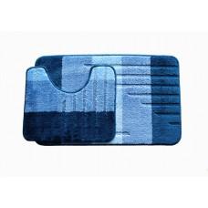 Koupelnová předložka Comfort - modrá 2 -set 2 ks