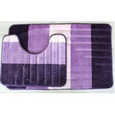 Koupelnová předložka Comfort - Toronto fialová -set 2 ks