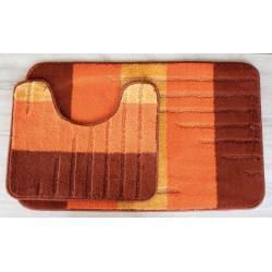 Koupelnová předložka Comfort - oranžová 1- set 2 ks