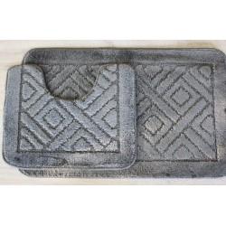 Koupelnová předložka Comfort - šedá, set 2 ks