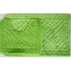 Koupelnová předložka Comfort - zelené jablko, set 2 ks