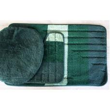 Koupelnová předložka Comfort - zelená/smaragdová - set 3 ks
