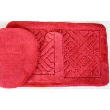 Koupelnová předložka Comfort - červená, set 3 ks