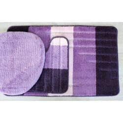Koupelnová předložka Comfort - Toronto fialová - set 3 ks