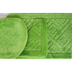 Koupelnová předložka Comfort - zelené jablko, set 3 ks