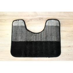 Koupelnová předložka  WC Toronto 40x50cm černá/šedá