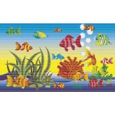 Pěnová koupelnová PVC předložka Dekomarin - 299A - rybičky - 46 x 80cm, kus