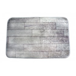 Koupelnová předložka s 3 D efektem - Imitace dřeva-šedá