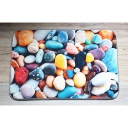 Koupelnová předložka s 3 D efektem - barevné kameny