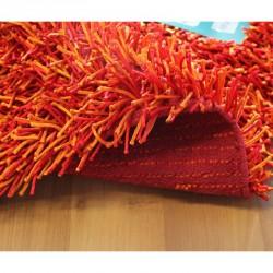 Koupelnová předložka Sparkle - červeno-oranžová, 50x80 cm
