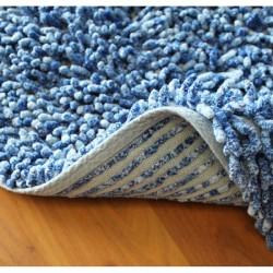 Koupelnová předložka Sprinkle -  bavlna modrá melír