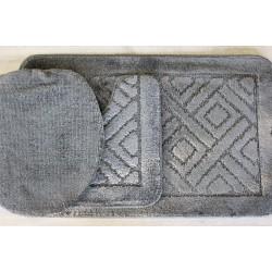 Koupelnová předložka Comfort - šedá, set 3 ks
