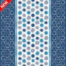 Pěnová koupelnová PVC předložka Dekomarin - 210A - šířka 65cm, role 15 m