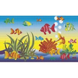 Pěnová koupelnová PVC předložka Dekomarin - 299A - rybičky - 48 x 80cm, kus