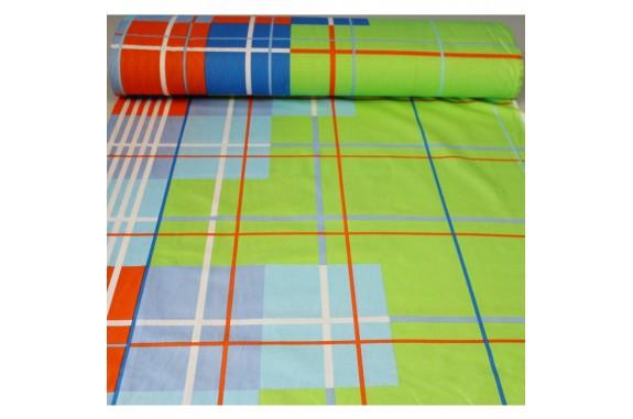 Látka bavlna 5114 - zelená, šířka 160cm