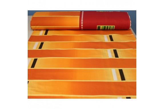 Látka bavlna 8338 - oranžová, šířka 160cm