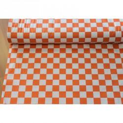 Látka bavlna Kostka, oranžová