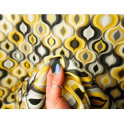 Dekorační látka print DGT - žlutá, metráž