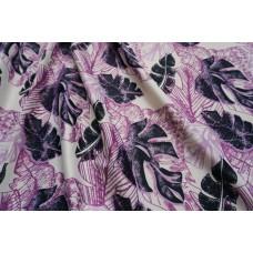 Dekorační látka Monstera- fialová
