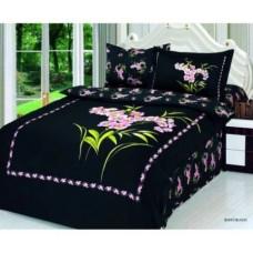 Set luxusního saténového povlečení Le Vele - Buket Black