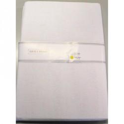 Bavlněné plátěné prostěradlo bílé,  220x240cm