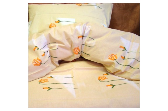 Povlečení Sk bavlna - tulipány 140x200 +70x90cm