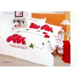 Set luxusního saténového povlečení Le Vele - Strowberry