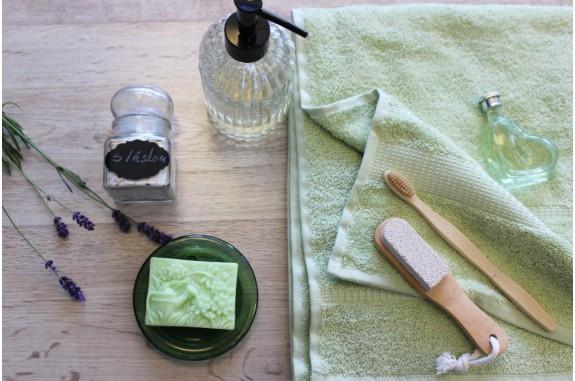 Osuška Froté - zelená - mint cream + mýdlo Meduňka+ Tea Tree
