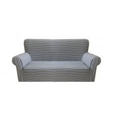 Potah napínací na pohovku Vintage - šedý, 2-místní