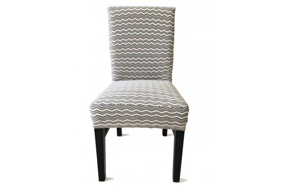 Potah napínací na židli s opěradlem Vintage - béžový - 2 ks