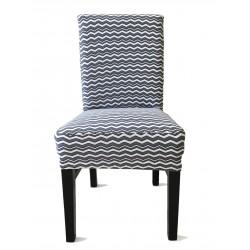 Potah napínací na židli s opěradlem Vintage - šedý - 2 ks