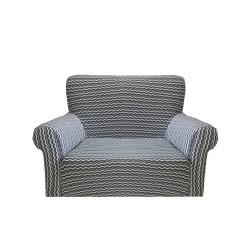 Potah napínací na křeslo Vintage - šedý
