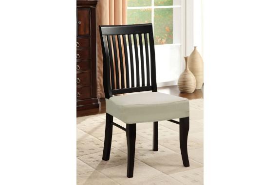Potah napínací na židli bez opěradla- cream - 2 ks