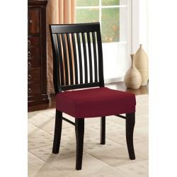 Potah napínací na židli bez opěradla - vínový - 2 ks