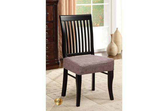 Potah napínací na židli bez opěradla Modern - hnědý - 2 ks