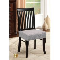Potah napínací na židli bez opěradla Modern - šedý - 2 ks