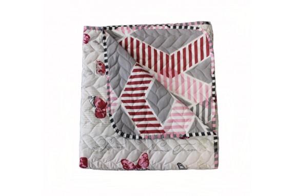 Přehoz oboustranný Colore - Motýlci, 200x220cm+ dárek