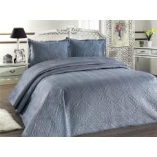Přehoz na postel ILK - modrošedý,  220x240cm