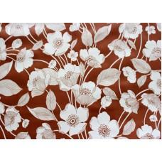 Ubrus PVC AT-370 - Květiny - hnědý, 20 m x 140 cm