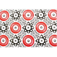 Ubrus PVC AT-370 - Orientální motiv - červený, 20 m x 140 cm