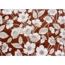 Ubrus PVC AT-320 - Květiny - hnědý, 20 m x 140 cm