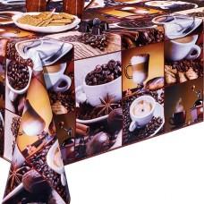 Ubrus PVC Dekorama D-100A -  kávový motiv, role 20 m