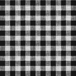 Ubrus PVC Dekorama D-45C- károvaný - černý, role 20 m