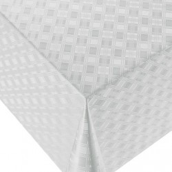 Ubrus PVC Dekorama D-521- bílý, 20 m
