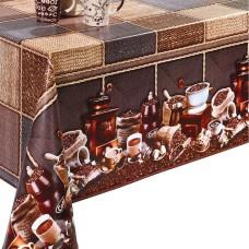 Ubrus PVC Dekorama D-60 -  kávový motiv, role 20 m