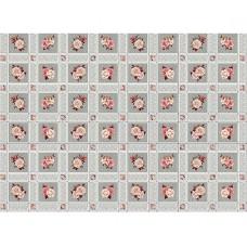 Ubrus PVC Florista  Fl-1325-02 - Růže/kostky, role 20 m