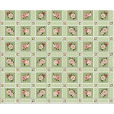 Ubrus PVC Florista  Fl-1325-04 - Růže/kostky, role 20 m