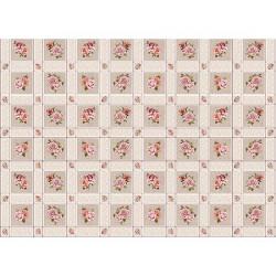 Ubrus PVC Florista  Fl-1325-05 - Růže/kostky, role 20 m