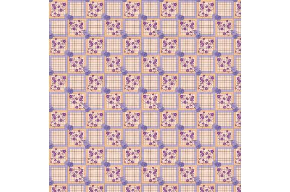 Ubrus PVC Florista  Fl-1489-04 - Květiny/kostky, role 20 m