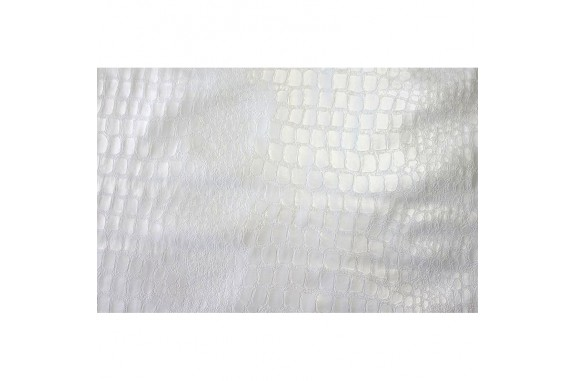 Ubrus PVC Mirella M-071A - bílý/ Pearl white, role 20 m